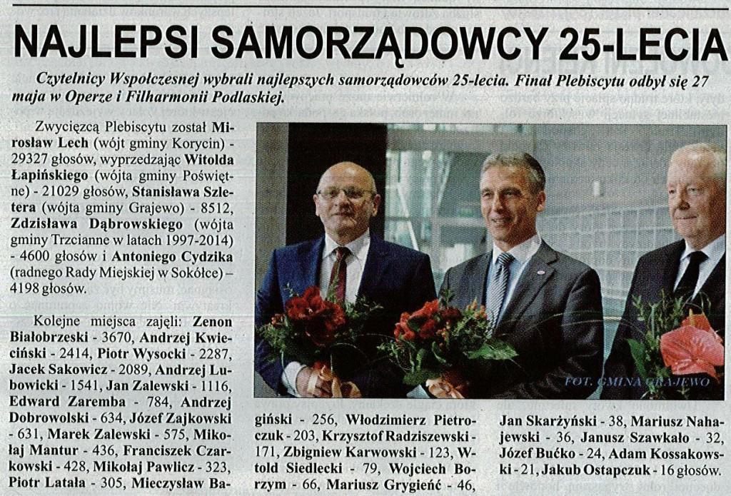 najlepsi samorządowcy 25-lecia